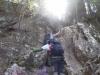 出雲岩での休憩を終え、大天井山頂へ向かいます。