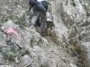 このような岩場が多い(だらけ)の山で、自然のアスレチックが満載です