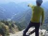 高度感を感じ出来ました。山々の風景が綺麗です